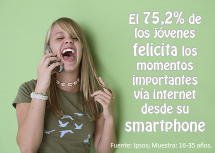 Marketing e Ideas_jóvenes felicitan smartphones
