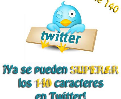 más de 140 twitter
